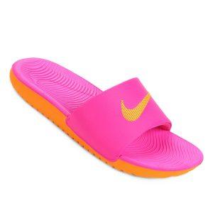 Chinelo Nike Kawa Slide Pink Prime/Orange Peel-Orange Peel