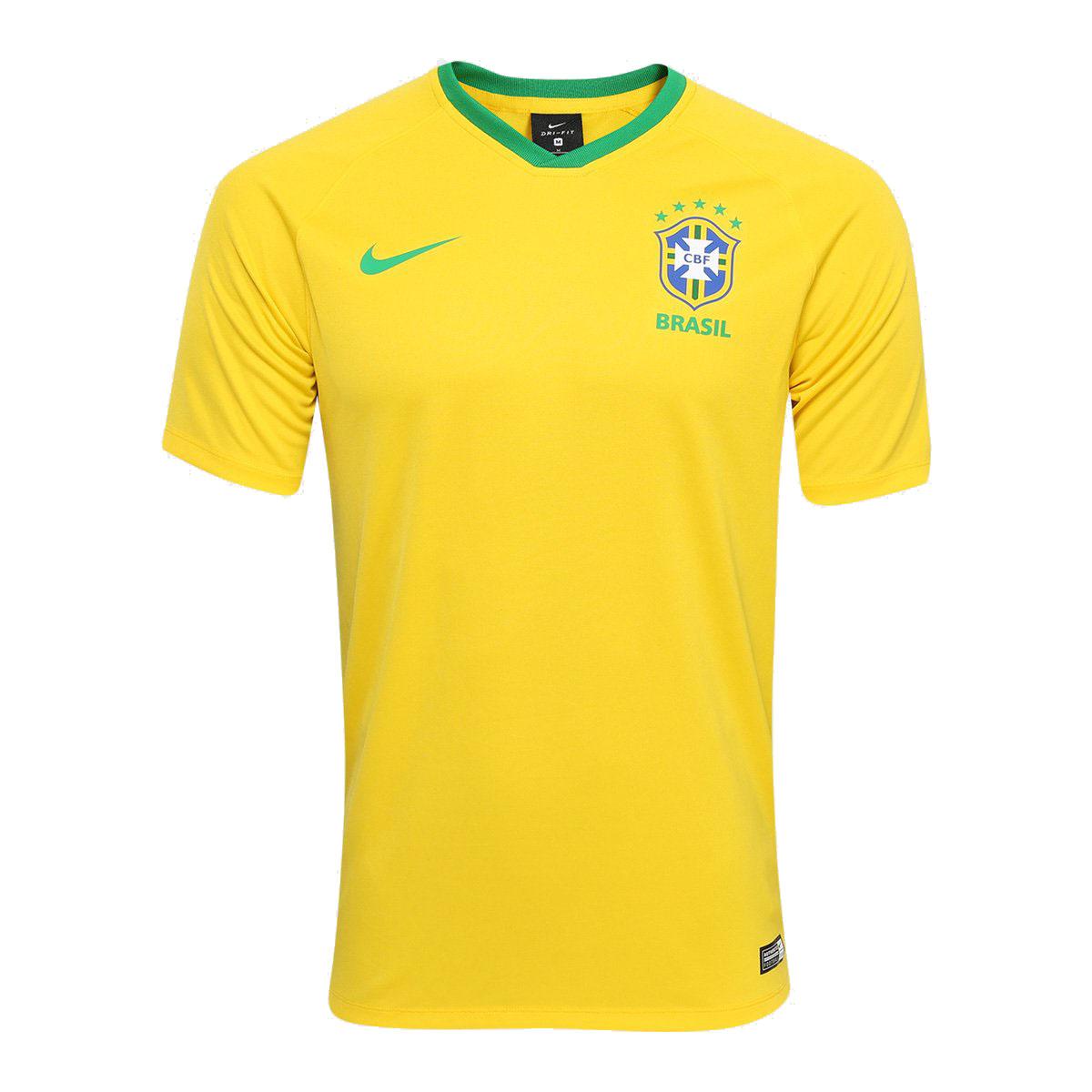 Camisa Nike Brasil 2018 Amarelo