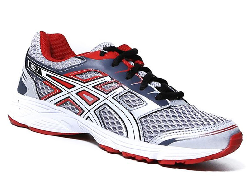 Tênis Asics Buzz 2 GS Silver/White/Chinese Red