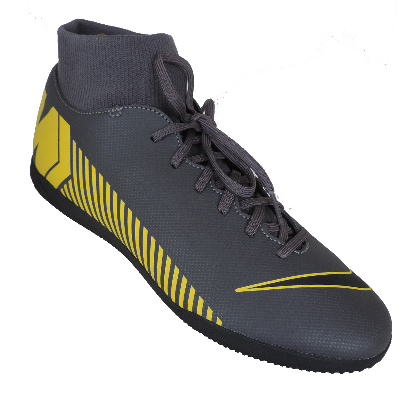 Chuteira Nike Superfly 6 Club IC Dark Grey/Black-Opti Yellow
