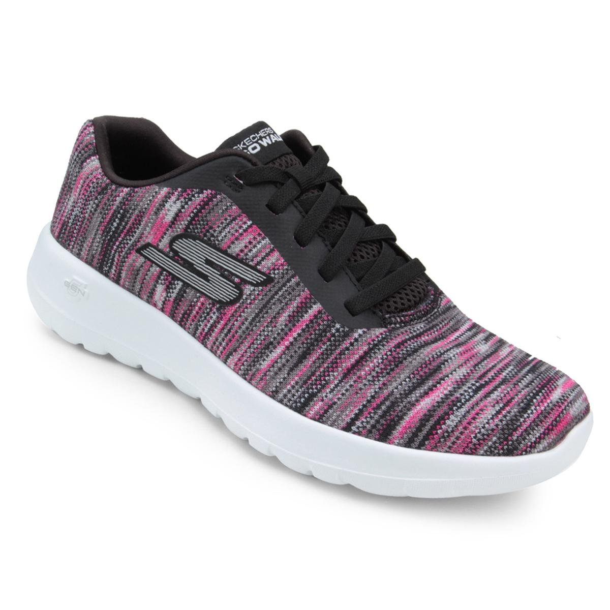 Tênis Skechers Go Walk Joy Invite – Black/Pink