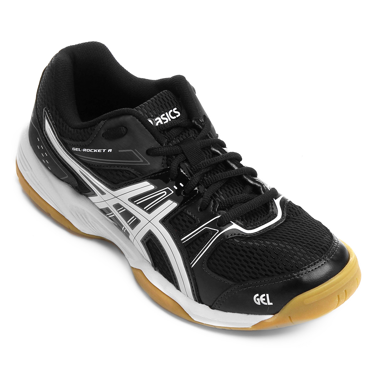 Tênis Asics Gel Rocket 7 A Black/Silver/White