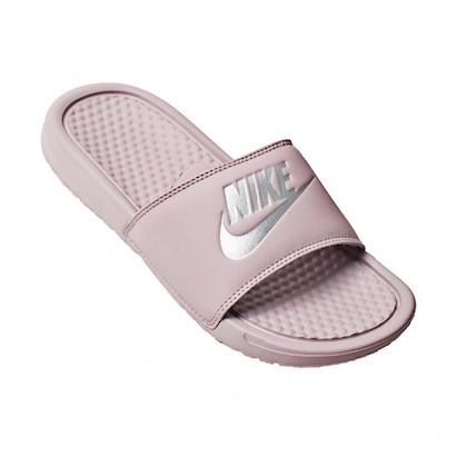 Chinelo Nike Benassi JDI Particle Rose/Metallic Silver/Rose Particule