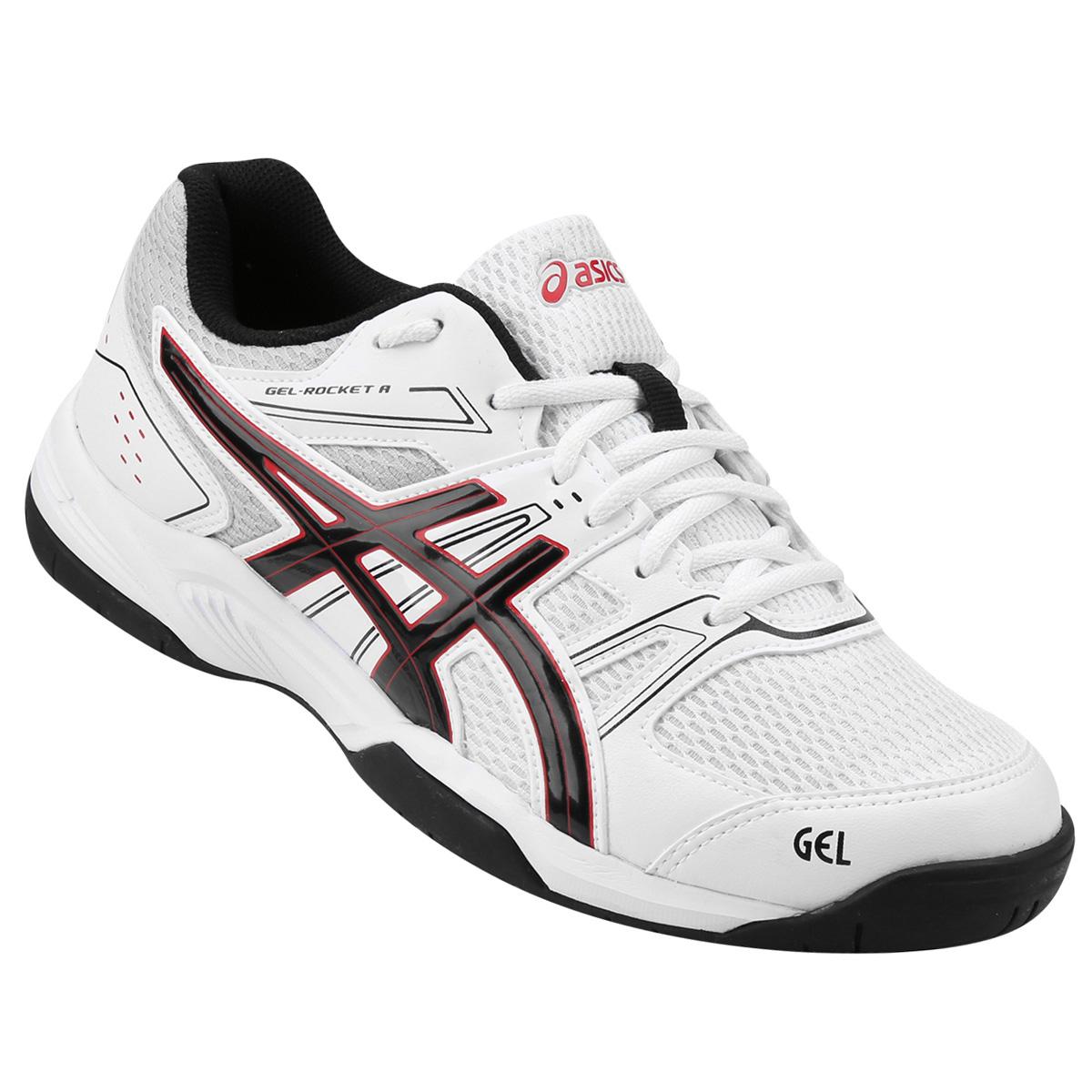 Tenis Asics Gel Rocket 7 A White/Black/True Red