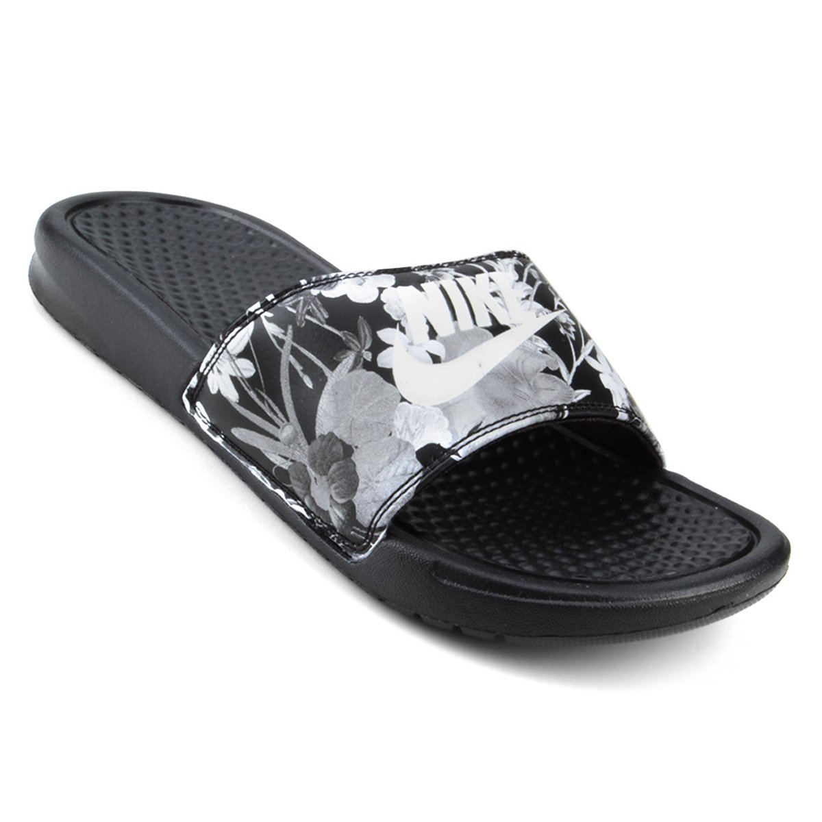 Chinelo Nike Benassi JDI Print Black/Summit White Noir/Blanc Sommet