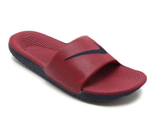 Chinelo Nike Kawa Slide Red Crush/Blackened Blue-Blackened Blue