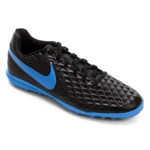 Chuteira Nike Tiempo Legend 8 Club TF Black/Blue Hero