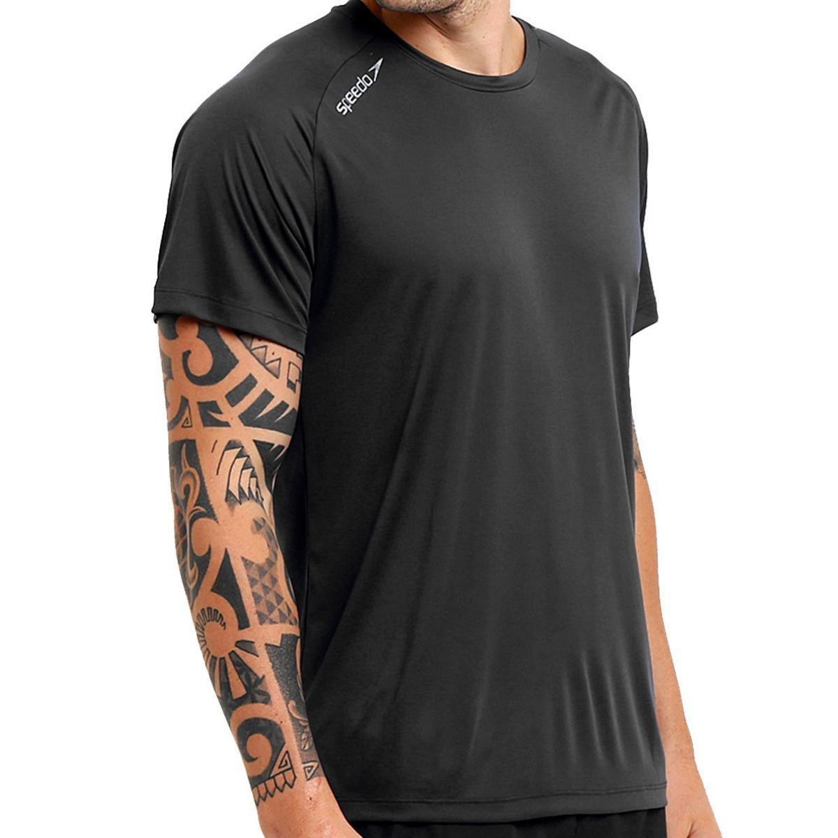 Camiseta T-Shirt Raglan Speedo Basic – Preto