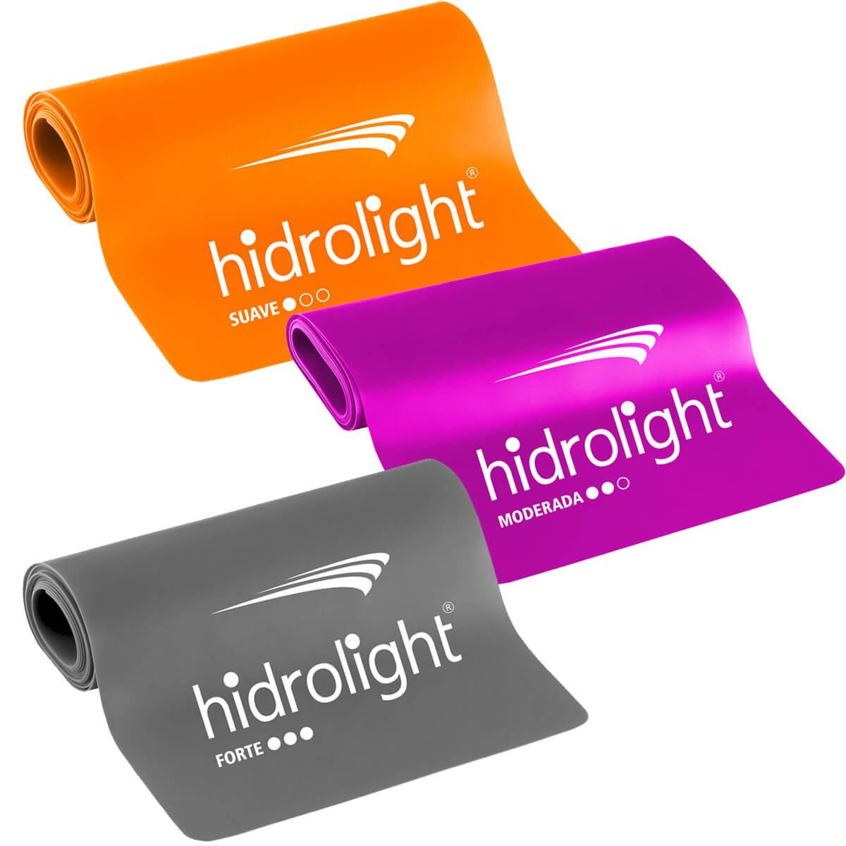 Faixa Elástica Hidrolight – Kit 3 peças