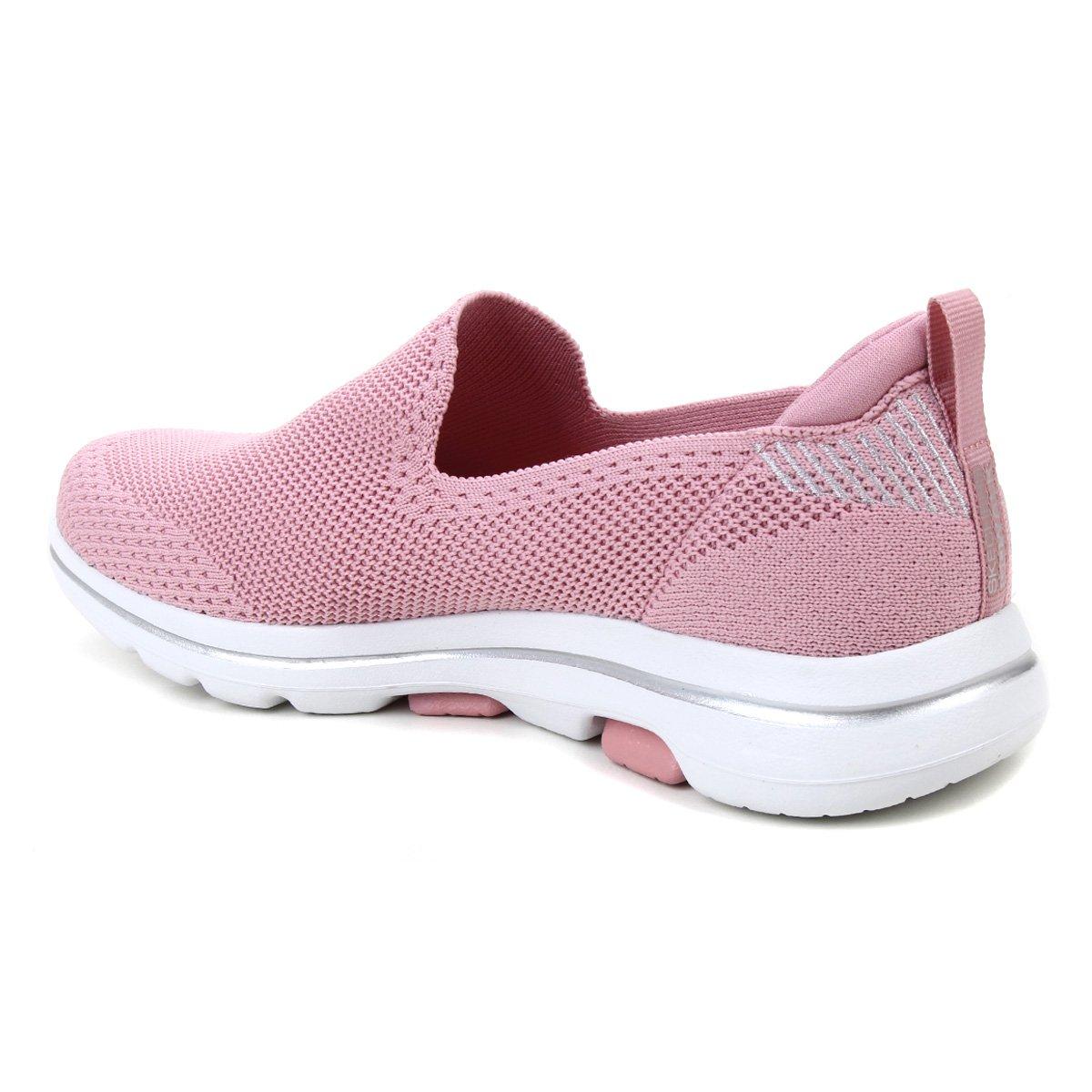 Tênis Skechers Go Walk 5 Prized rosa claro